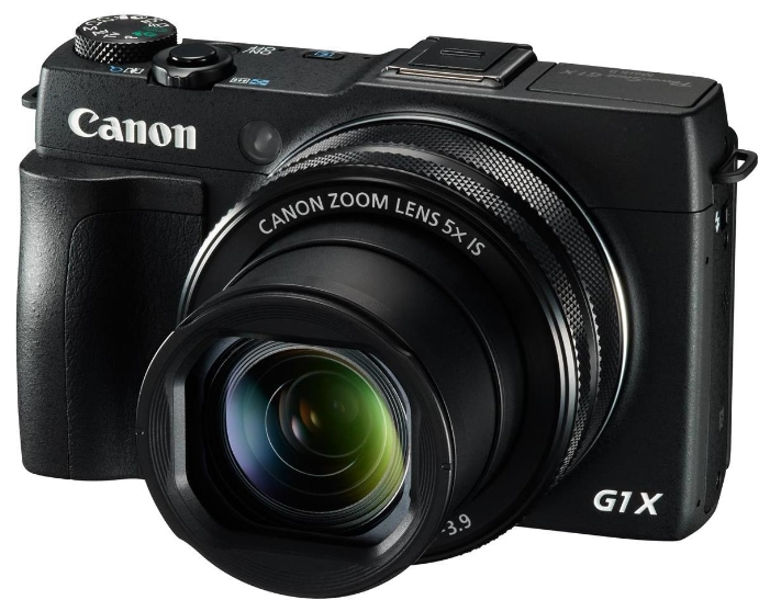 "Фотоаппарат Canon PowerShot G1 X Mark II black 15Mpix Zoom5x 3"" 1080p SDXC CMOS IS opt turLCD rotLCD"