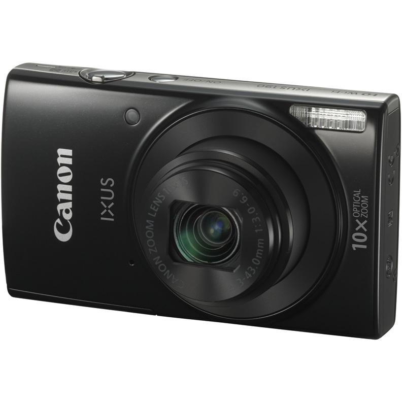 Фотоаппарат Canon IXUS 190 HS Black (20Mp/10x/HD/Wi-Fi)