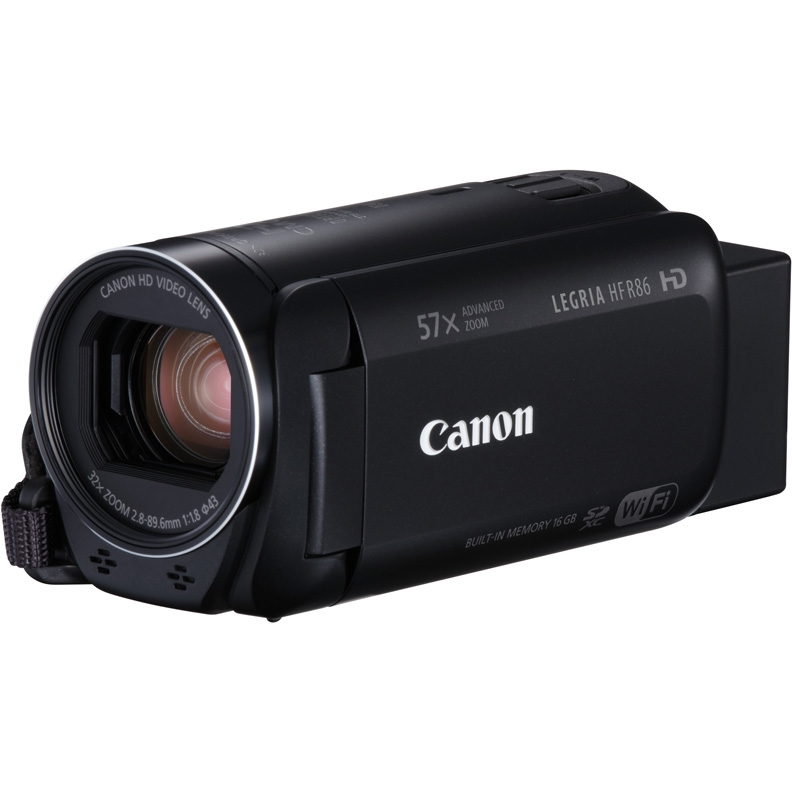 Видеокамера Canon Legria HF R86 Black (3.28МП/32x/FullHD/WiFi/16Gb)