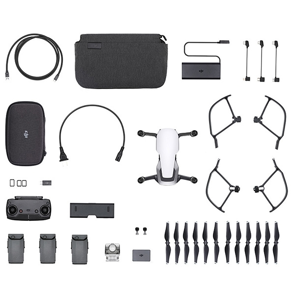 Квадрокоптер DJI Mavic Air Fly More Combo white