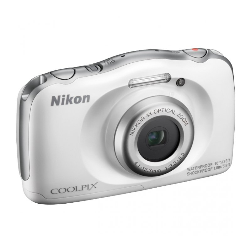 Фотоаппарат Nikon Coolpix W100 (14.17Mp/3x/FullHD/10m), White Holiday kit