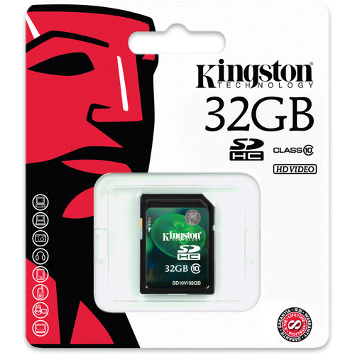 Карта памяти Kingston SDHC 32GB SD10V/32Gb Class 10