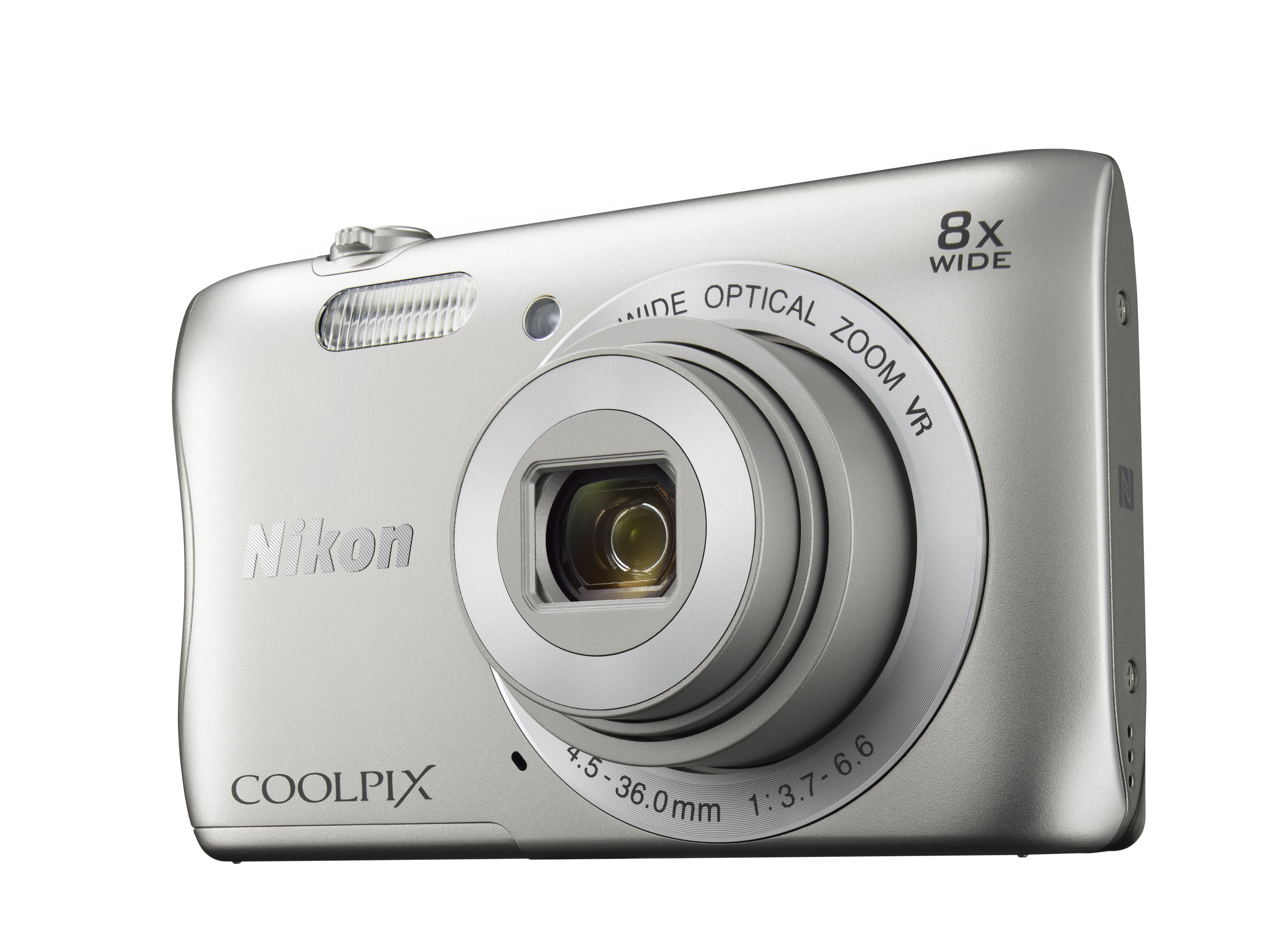 Фотоаппарат Nikon CoolPix S3700 SL (20,1Mp, 8x, SDXC, Li-Ion), серебро