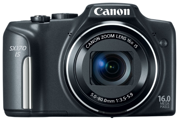 Фотоаппарат Canon PowerShot SX170 IS (16.6Mp, 16x, 720p) black