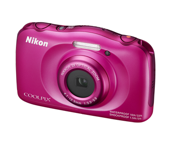 Фотоаппарат Nikon Coolpix S33 (14.7Mp/3x/FullHD/10m), Pink Backpack kit
