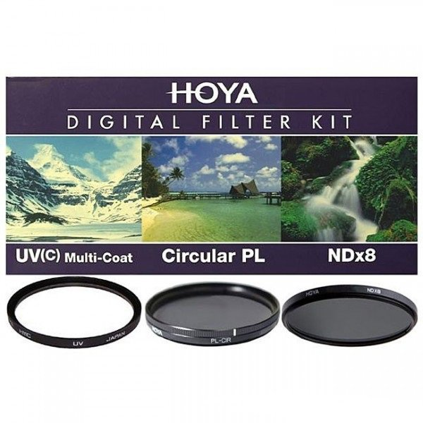 Комплект светофильтров Hoya DIgital filter kit: UV (C) HMC Multi, PL-CIR, NDX8 58mm