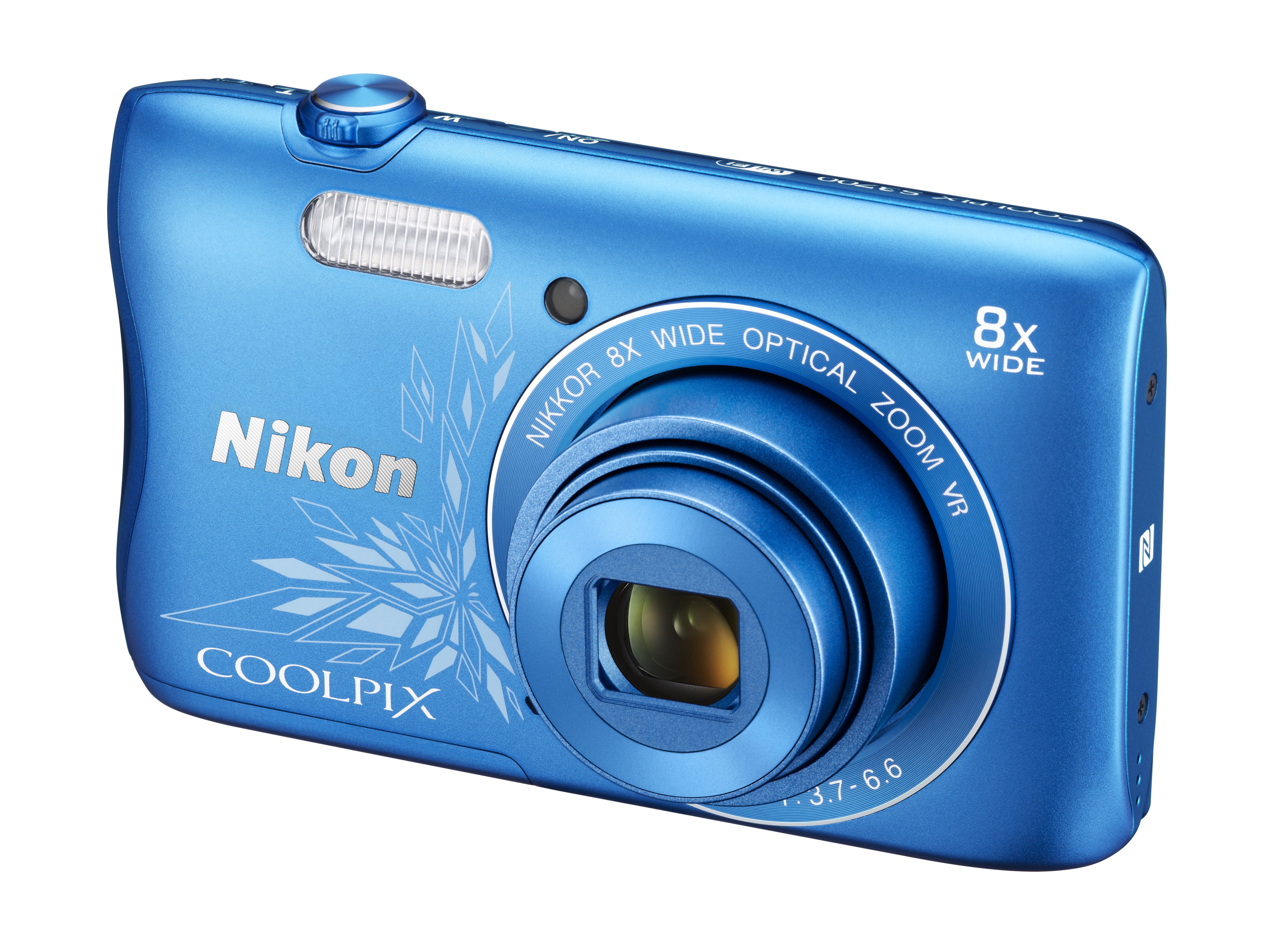 Фотоаппарат Nikon CoolPix S3700 SL (20,1Mp, 8x, SDXC, Li-Ion), Синий