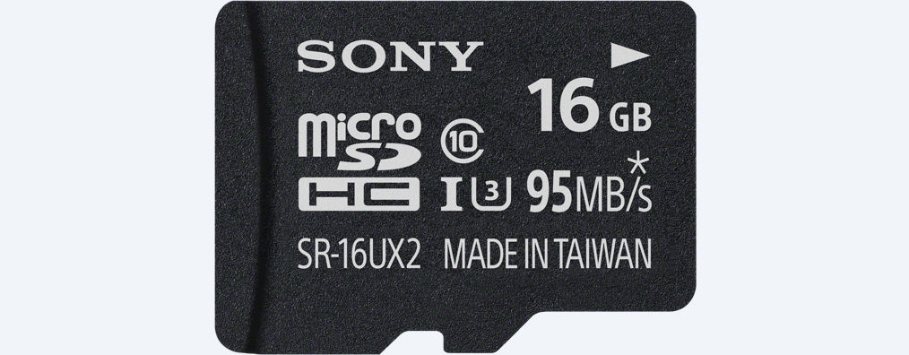 Карта памяти Sony microSD 16GB (SR-16UX2AT), Class 10, UHS-1, read up to 95Mb/s/write up to 60Mb/s
