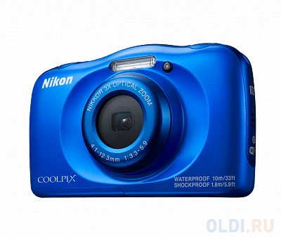 Фотоаппарат Nikon Coolpix W100 Blue Backpack kit (13.2Mp/3x/FullHD/Wi-Fi)