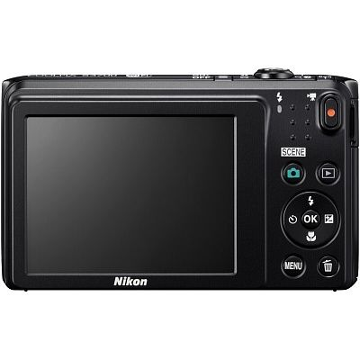Фотоаппарат Nikon CoolPix S3700 BK (20,1Mp, 8x, SDXC, Li-Ion), черный
