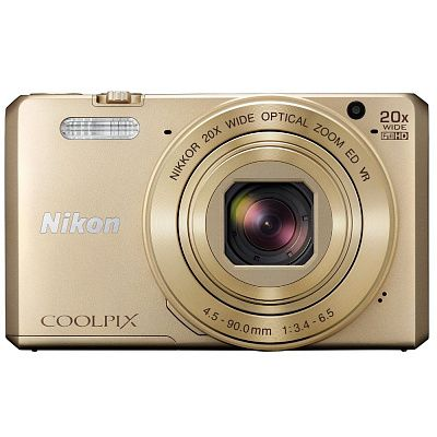 "Фотоаппарат Nikon CoolPix S7000 (16Mpx/ 20xZoom/ 3""LCD/ SDXC 1/ 2.3"",ISO 100-3200/ 20Mb/ Wi), gold"