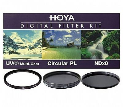 Комплект светофильтров Hoya DIgital filter kit: UV (C) HMC Multi, PL-CIR, NDX8 72mm