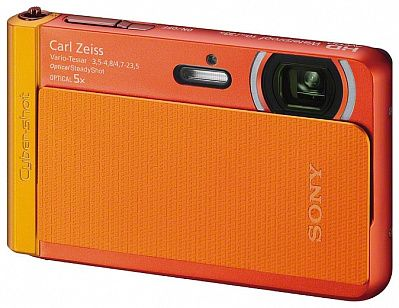 "Фотоаппарат Sony Cyber-shot DSC-TX30 (18.9Mp, 5x, 3.3"", 1080, SDHC, Li-Ion, защищённая), оранжевый"