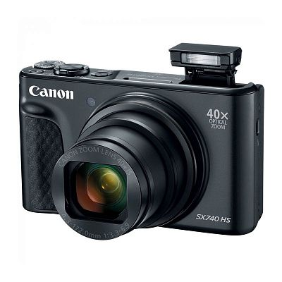 Фотоаппарат Canon PowerShot SX740 HS Black (20.3Mp/40x/4K/Wi-Fi/BT)