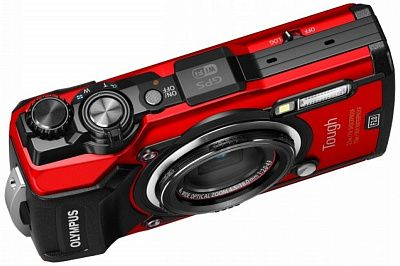 Фотоаппарат Olympus Tough TG-5 LG-1 Kit Red (12Mp/4x/4K/Wi-Fi/GPS)