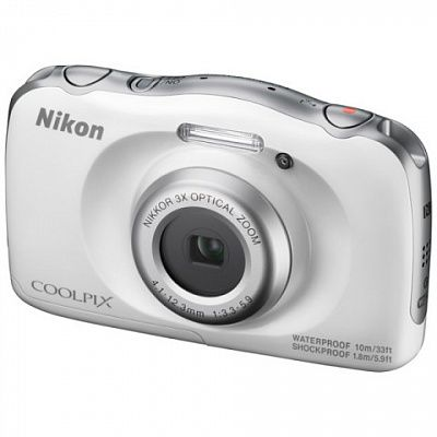 Фотоаппарат Nikon Coolpix W100 (14.17Mp/3x/FullHD/10m), White Backpack kit